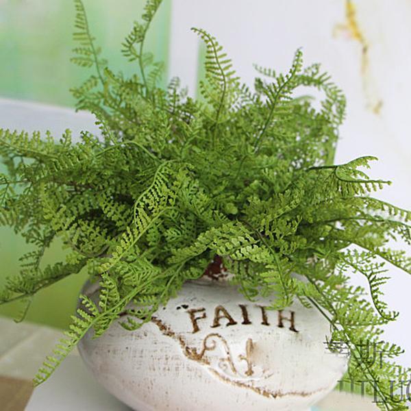 Beauté Fougère Faux Plante Artificielle Floral Feuillage Floral Home Office Décoration Drop Shipping Bunches 22pcs / lot