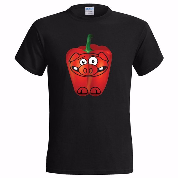 A PEPPER PIG BAD JOKE FUNNY MENS T SHIRT PUN SPOOF KIDS TV TELEVISION CARTOON funny 100% Cotton free shipping t shirt