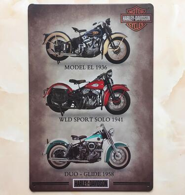 harley davidson design Motorcycle metal painting tin sign retro bar garage ktv home bedroom cafe shop wall Decoration paintng