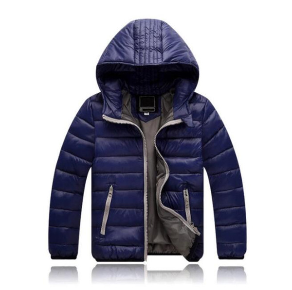 best selling Wholesale 2018 Children's Outerwear Boy and Girl Winter Warm Hooded Coat Children Cotton-Padded Down Jacket Kid Jackets 3-10 Years