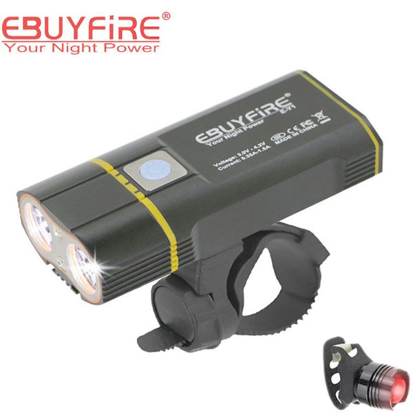 Bicycle Light 6000lm 2x XML-L2 LED Cycling Lights USB Rechargeable 6000mAh bicicleta Wheel Bike Front Light taillight Y1892709