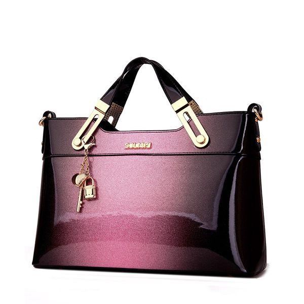 2018 designer handbag high quality patent leather female tote bags handbag women famous brands messenger bag ladies work clutch Y18102504