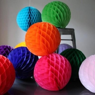 12inch 5pcs /Lots Honeycomb Balls Cellular Balls Paper Flower Balls Party Decorations Wedding Decorations Event Party Supplies