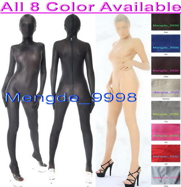 Unisex 8 colori spandex vestito di seta tuta costumi sexy spandex tuta di seta unisex completo vestito del corpo del vestito operato costumi cosplay costumi M304
