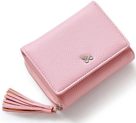 Borlas ZipperHasp Mulheres Carteira Para Cartão Dinheiro Fatura Moda Senhora Pequena Bolsa Curta Sólida Feminino Embreagem Carteras