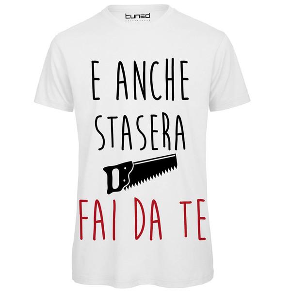 Compre Camiseta Divertente Uomo Maglietta Con Stampa Frase Ironica Stasera Fai Da Te Camiseta Impresa De Manga Corta Para Hombres A 242 Del