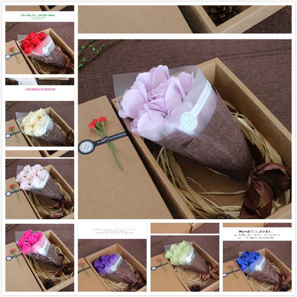 Großhandel Neue 10 Farben Kreative Geburtstagsgeschenke Mädchen Muttertag Besondere Geschenke Senden Sie Freunde 7 Soap Bouquets Von Topteam 73 Auf