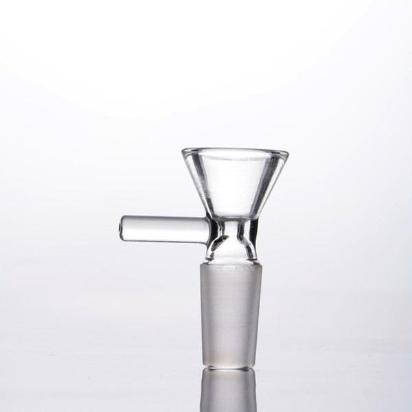 Smoking Dogo Glass Bow Tobacco And Herb Dry Bowl Slide For Glass Bong And Pipes 14mm 18mm Male Joint Glass Bowl With Handle
