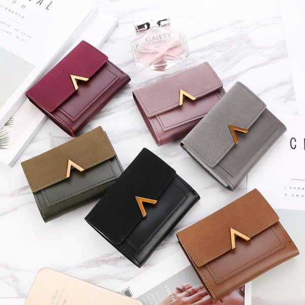878f21f628a Matte Leather Small Women Wallet Luxury Brand Famous Mini Womens Wallets  And Purses Short Female Coin Purse Credit Card Holder Purses For Sale ...
