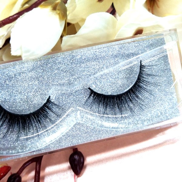 Seashine100% Top quality 3D Mink Lashes Extension 10 pairs handmade for Strip fans Glitter Packaging Customized box Mink Lash Free Shipping