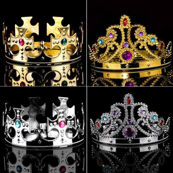 Idealway Barock Luxus Perle Krone Party Prom Vintage Voller Kristall Große König Königin Tiara und Crown Coroa Casament