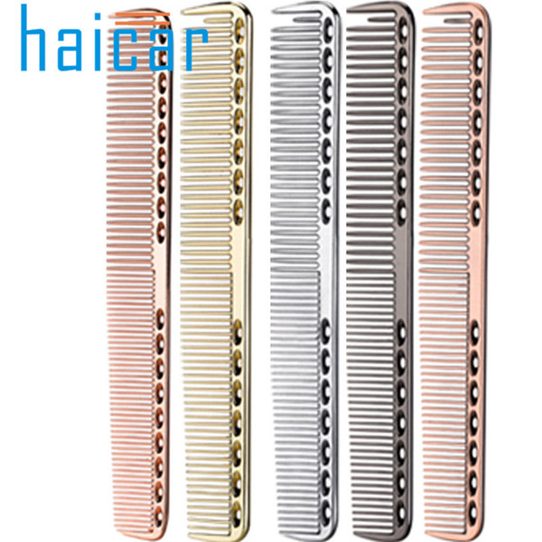 hair comb Stainless Steel Professional Salon Hair Hairdressing Anti-static Barbers Comb Hairbrush Hairdressing Styling Tools