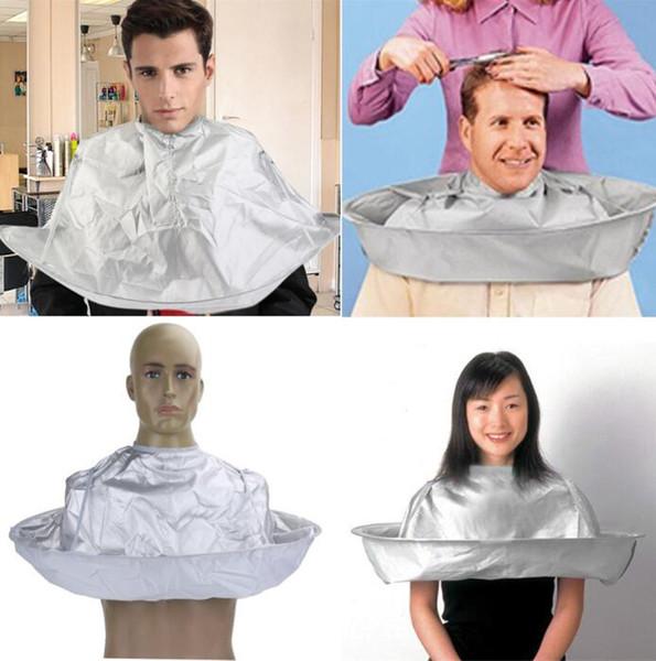 Adulte pliable cheveux coupe manteau parapluie cape salon barbier imperméable pour salon de coiffure spécial coiffure styling accessoire coupe cap