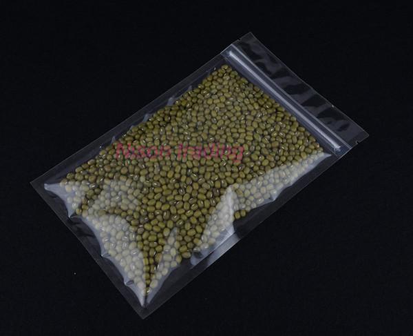 14x20cm 100pcs/pack high lucency plastic ziplock bag-all clear food grade plastic pouch, potato chip/cookie package sachet