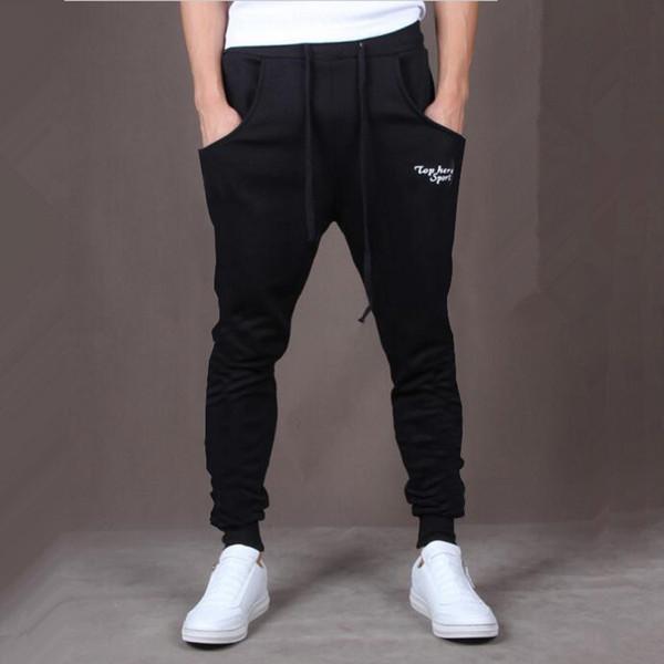 top popular Wholesale-Hot! New Brand Mens Joggers Casual Harem Sweatpants Sport Pants Men Gym Bottoms Track Training Jogging Trousers+ 2019