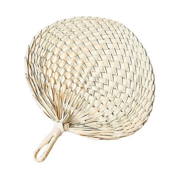 Chinese hand fan Straw wedding souvenirs home decoration crafts vintage poetry hand-woven ladies and family fans