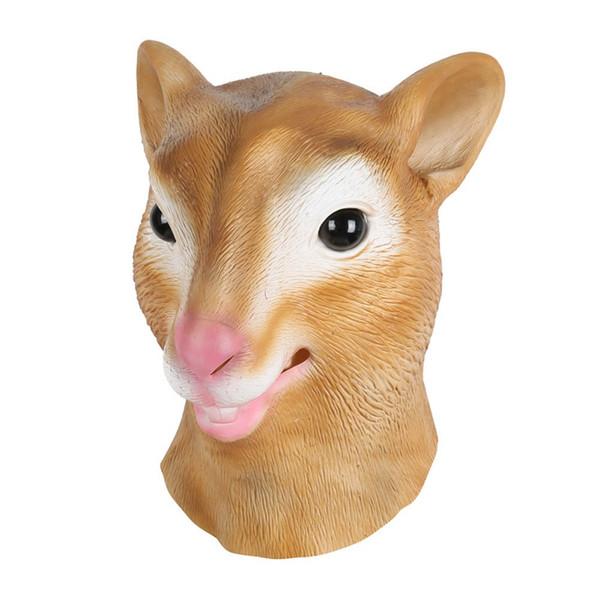 beliebt kaufen am besten auswählen 100% echt Großhandel Maske Latex Deluxe Neuheit Halloween Kostüm Party Eichhörnchen  Weibliche Kuh Tierkopf Maske Von Igarden001, $18.56 Auf De.Dhgate.Com | ...