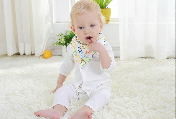 best selling Cartoon Printing Baby Burp Cloths Pure Cotton Infant Bibs Toddler Mouth Water Towel Many difference Styles