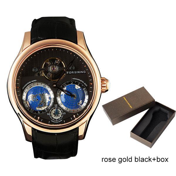 Caja negra de oro rosa