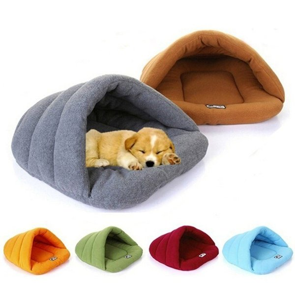 top popular Soft Polar Fleece Pet Mat 6 Colors Winter Warm Nest Pet Cat Small Dog Puppy Kennel Bed Sofa Sleeping Bag House Puppy Cave 2020