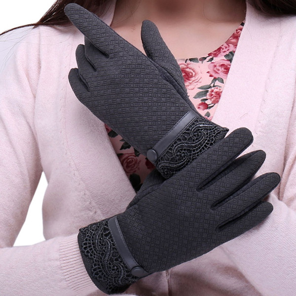 2017 Warm Winter Thick Gloves Wool Knitted Women Touch Screen Gloves Fasion Finger Mittens For Mobile Phone Tablet