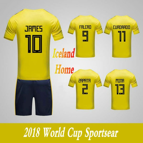 Men's Clothing Tracksuits Columbia National Team Home Football Sport Suits 2018 World Cup Soccer Uniform Clothes Shorts