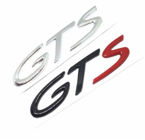 3D Chrome Metal GT GTS LOGO Emblem Badge Car Sticker Auto accessories automovil Decal for Porsche Cayenne Cayman Macan 911 718 S