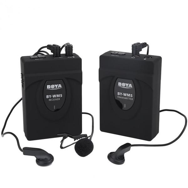 BY-WM5 Wireless Kondensator Interview Mikrofon Lavalier Mikrofon für DSLR Kamera DV Camcorder Audio Recorder