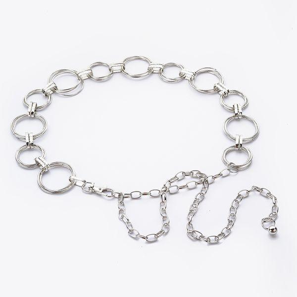 Hongmioo Fashion women's waist chain metal chain belt gold and silver color for women designer belts S18101806