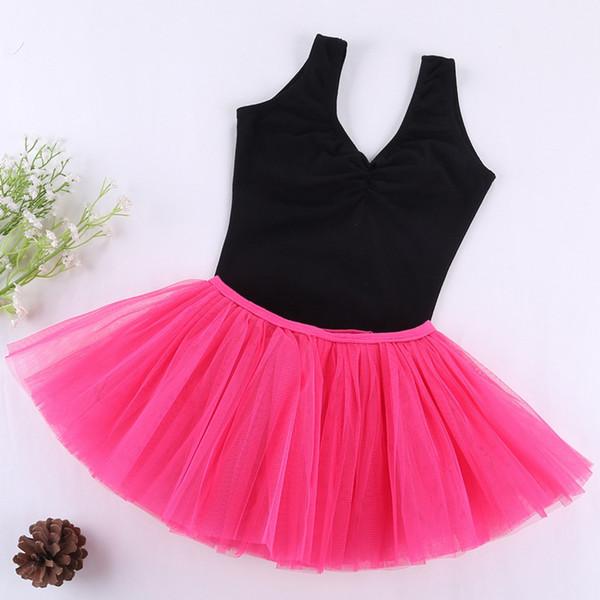 chiffon ballet tutu skirts wrap Dress Dance Costume Kids Dresses For Girls Dance gymnastics leotard sleeveless Dancewear cotton