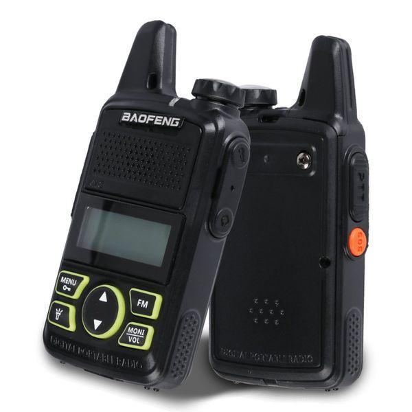 جهاز إرسال واستقبال لاسلكي 2 × راديو صغير BF-T1 MINI راديو UHF 400-470 ميجا هرتز جهاز الإرسال والاستقبال مع PEarpiece Hotel Civilian Radio Comunicacion