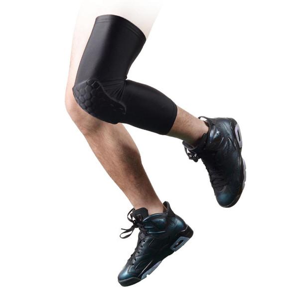 new Upgrated Honeycomb Pad Crashproof Basketball Leg Long Sleeve Protector Gear black