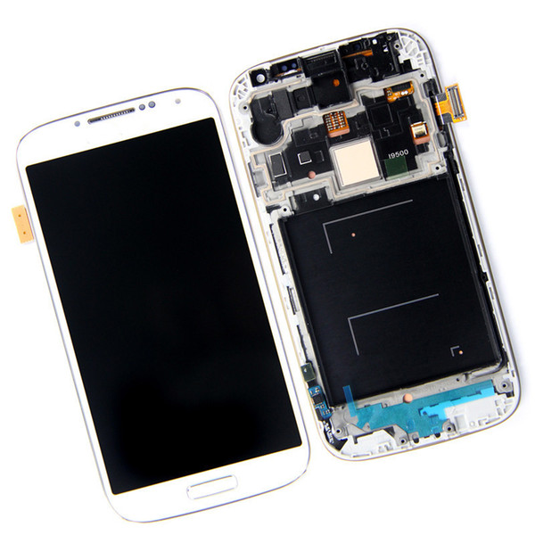 Highscreen LCD Display compatible for samsung S4 Screen For Samsung Galaxy S4 GT-I9505 I9500 i337 LCD Digitizer with frame Blue