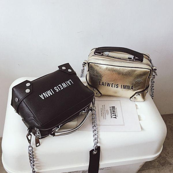 Ledertaschen für Frauen Büro Dame Große Lässige Handtasche Schwarz Sliver Fashion Design Mädchen Schulter Umhängetasche