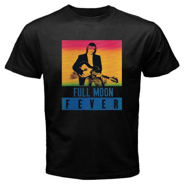 New Tom Petty Full Moon Fever Musicista Legend T-Shirt nera da uomo Taglia S-3XL Camicia in cotone Uomo di alta qualità T Shirt