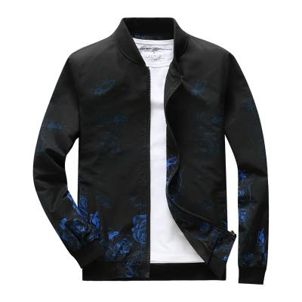 Flor Azul Negro