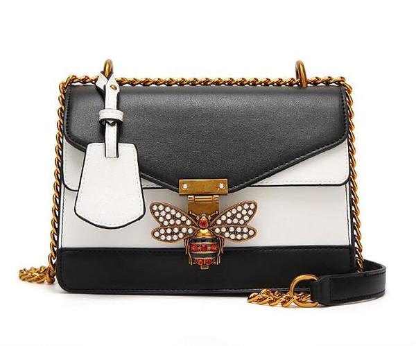 Kadın Moda Çantaları Küçük Arı Çantası Manşonlar Kilitleri Ünlü Tasarımcı Çanta Altın Zincir Omuz Messenger Çanta