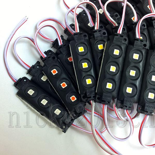 12V 5050 LED-Modul-Lichtstreifenlampenband 3LEDs Spritzgießen Schwarzes PVC IP65 Wasserdichtes fo-Zeichen Weiß Warm Rot Grün Blau