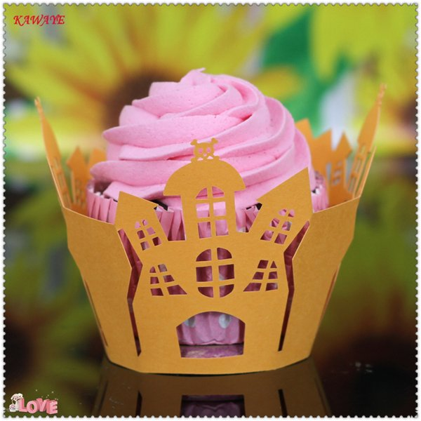 50pcs/ Hot Selling Mix 14 Color Cut Christmas, Birthday, Wedding Cake Decorating Tools Paper Muffin Cupcake Baking Cups 7ZC21