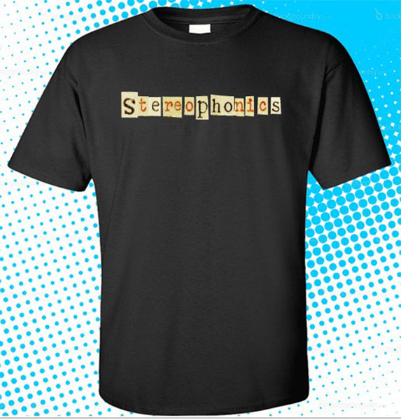 New Stereophonics Alternative Rock Band Logo Men's Black T-Shirt Size S to 3XL Comfortable t shirt Casual Short Sleeve Print