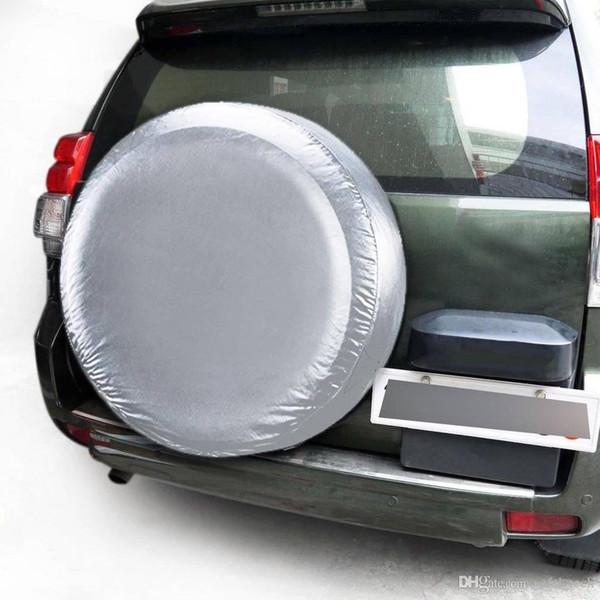 Envío gratis yentl Heavy Duty resistente al agua vehículo rueda elástica cubierta de neumático de repuesto Heavy Duty impermeable vehículo rueda funda protectora