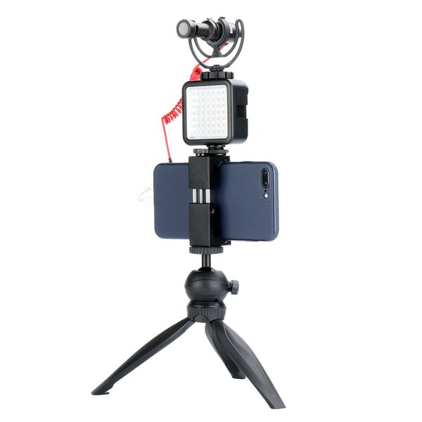 CALDO Nuovo Mini portatile regolabile 49 LED Dimmerabile a LED Fotografia Per illuminazione Videocamera VideoMobile Accessori per telefoni Parti