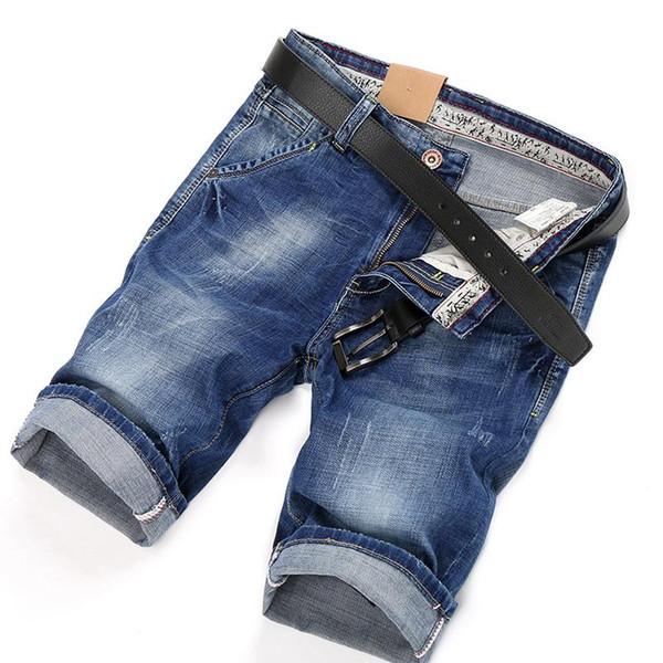 Summer New Denim Shorts Men 'S Jeans Short Men High Quality Cotton Men Bermuda Straight Jean 32 33 34 36 38 40