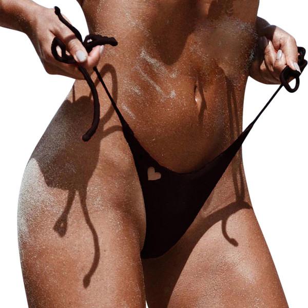 1e67ae46388ef Nueva Llegada bikini bottoms Mujeres traje de Baño Brasileño Cheeky Bikini  Bottom Lado Tanga Tanga traje