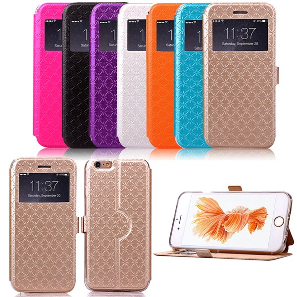 PU Leather Flip Fold Wallet Case with [ID&Credit Card Slot] for Apple iPhone 6 6s 7 8 X Plus XS XR Max