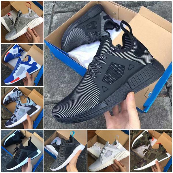 buy popular f3524 2940e Calidad superior Adidas NMD XR1 Primeknit PK cebra Triple negro blanco  cerebro JAPÓN rojo hombres mujeres