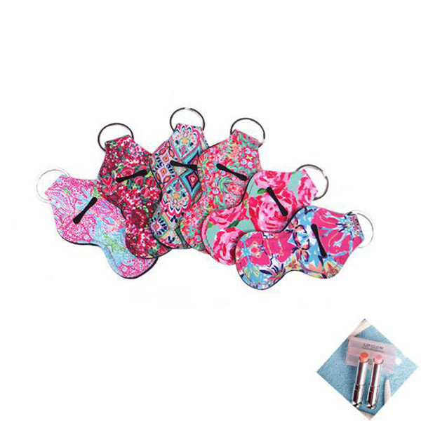 Neoprene Chapstick Holder Keychain Girl Chapstick Lipstick Keychain For Sale Gift Favors Valentines Gift Durable free shipping