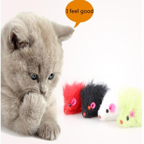 Pet supplies wool emulation small mouse sound cat toys sound color mouse tease cat sounding toys