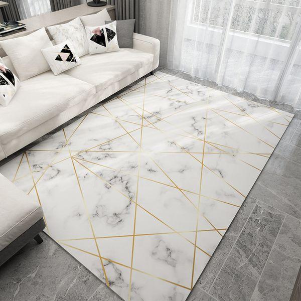Großhandel Nordic Stil Geometrische Marmor Muster Teppich Wohnzimmer  Teppich Sofa Couchtisch Mat Schlafzimmer Yoga Pad Rechteckige Nachtdecke  Von ...