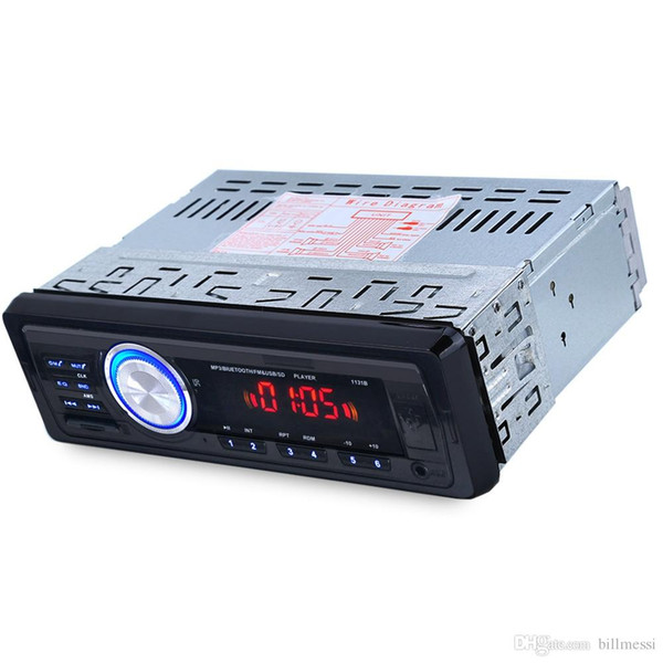 1131B 12V Car Audio Stereo FM V2.0 USB SD Mp3 Player AUX Mic Hands-free Support Bluetooth Remote Control and Microphone For Cars +B